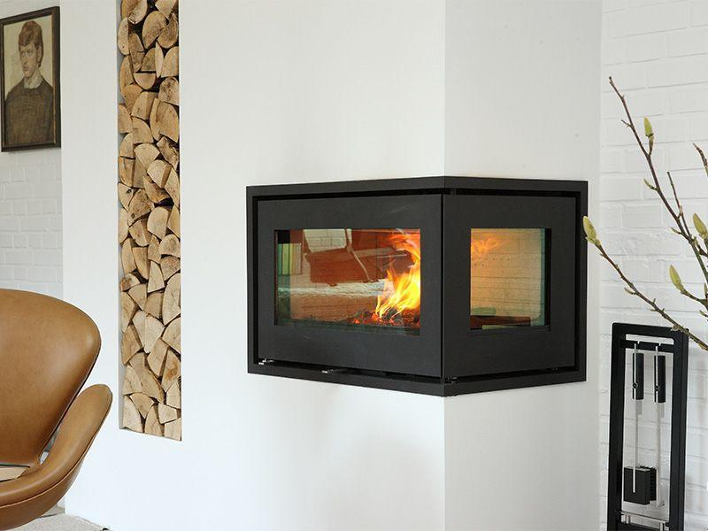 Corner Fireplace Rais 500 178 Is A Wood Burning Stove With