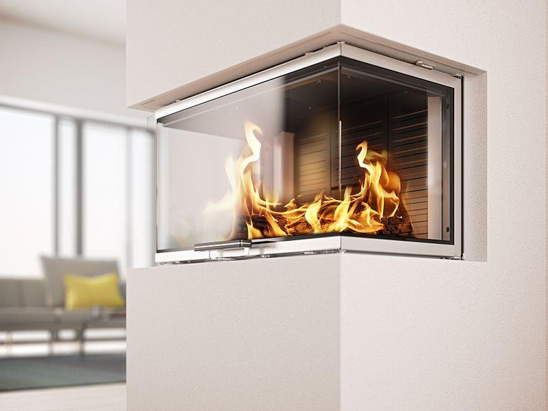 Three Sided Fireplace - RAIS Visio 3 is a Peninsula Fireplace